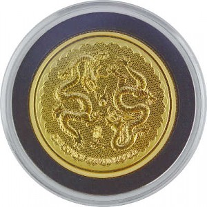 Niue Double Dragon 1oz d'or fin - 2018
