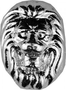 'Lion's head' 3D-Bars 1oz Silver, hand pured