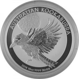 Kookaburra 10oz Silber - 2018