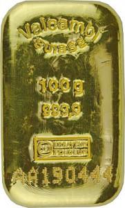 Goldbarren 100g - VALCAMBI