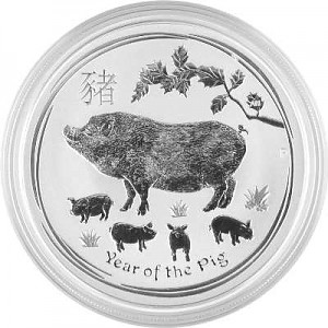 Lunar II Year of the Pig 1oz Silver - 2019