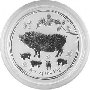 Lunar II Year of the Pig 1/2oz Silver - 2019