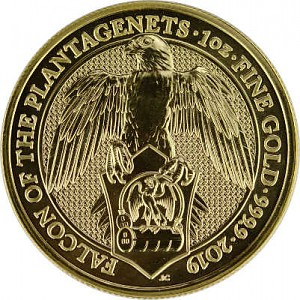 Queens Beasts Falcon 1oz Gold - 2019