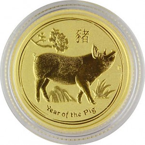Lunar II Year of the Pig 1/10oz Gold - 2019