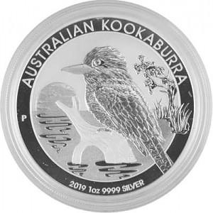Kookaburra 1oz d'argent fin - 2019