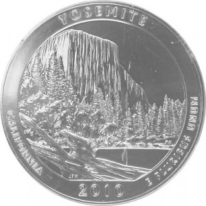 America the Beautiful - California Yosemte National Park 5oz Silver - 2010