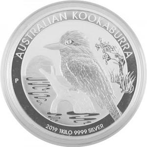Kookaburra 1kg d'argent fin - 2019