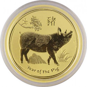 Lunar II Year of the Pig 1oz Gold - 2019