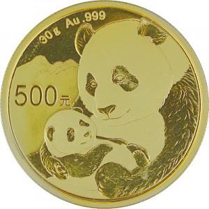 Chine Panda 30g d'or fin - 2019