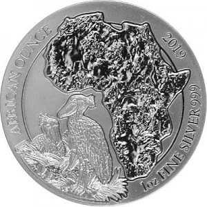 Bec-en-sabot du Nil du Rwanda 1oz d'argent fin - 2019
