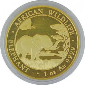 Somalia Elephant 1oz d'or fin - 2019