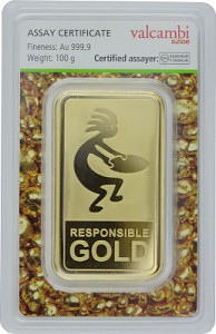 Goldbarren 100g - Auropelli Responsible-Gold