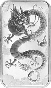 Perth Mint Rectangular Dragon 1oz Silber - 2019