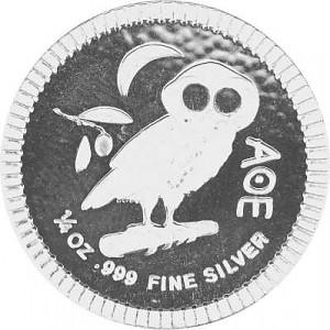 Niue Athener Eule 1/4oz Silber - 2019