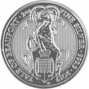 Queens Beasts Yale 2oz Silber - 2019