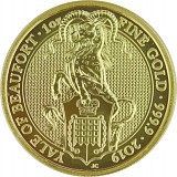 Queens Beasts Yale 1oz Gold - 2019