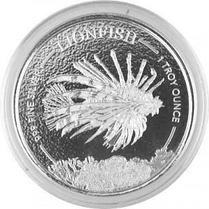 Barbados Feuerfisch 1oz Silber - 2019