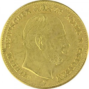 5 Mark Wilhelm I Kaiser V. Preussen 1,79g Gold 1887 Nachprägung