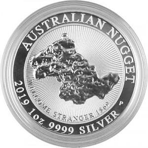 Australien Nugget Welcome Stranger 1869 1oz Silver - 2019