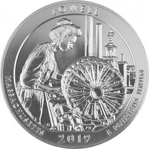 America the Beautiful - Lowell National Historical Park 5oz Silber - 2019