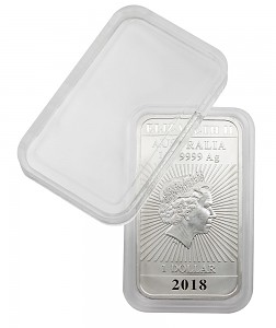 Coin Capsules 27x47mm, Rectangular Dragon Australia Coin Bars, 1 Piece