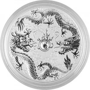 Dragon et Dragon 1oz d'argent fin - 2019
