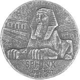 Republic of Tschad Sphinx of Hatshepsut 5oz Silber - 2019