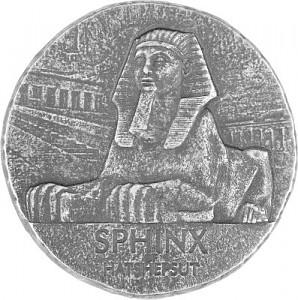 Republic of Chad Sphinx of Hatshepsuti 5oz Silver - 2019