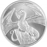 "USA ""The Welsh – World of Dragons"" Round Silbermedaille 1oz Silber"