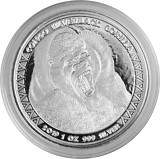 Afrika Kongo Silberrücken Gorilla 1oz Silber - 2019
