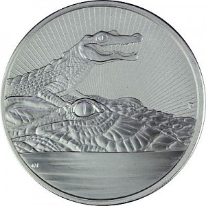 Australien Piedfort Krokodil Next Generation 2oz Silber - 2019
