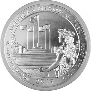America the Beautiful - Northern Mariana Islands American Memorial Park 5oz Silber - 2019