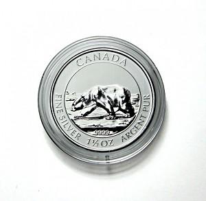 Münzkapseln 38,4mm für 1,5 Unzen Silber Kanada 1 Stück