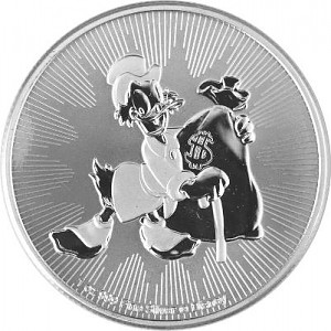 Niue Dagobert Duck 1oz Silber - 2018