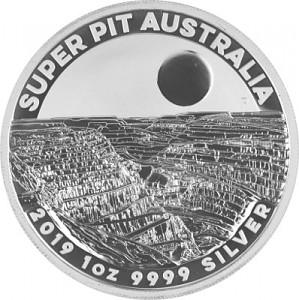 Australien Super Pit 1oz Silber - 2019