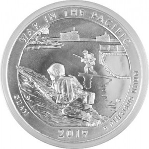 America the Beautiful - Guam War in the Pacific 5oz Silber - 2019