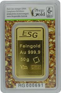 Goldbarren 50g - Auropelli Responsible-Gold