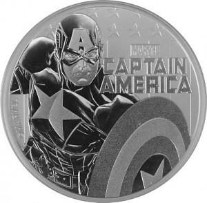 """Tuvalu """"Marvel Comics - Captain America"""" 1oz Silber 2019 BU"""