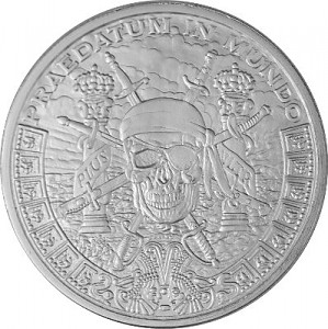 """Pieces of Eight"" Silver Round 1oz Silber BU"