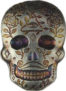 """Skull - Day of the Dead - All Seeing Eye"" 3D-Barren 2oz Silber"