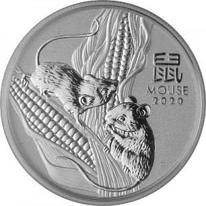 Lunar III Maus 1/2oz Silber - 2020