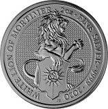Queens Beasts White Lion 2oz Silber - 2020