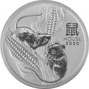 Lunar III Maus 2oz Silber - 2020