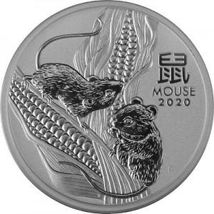 Lunar III Maus 5oz Silber - 2020