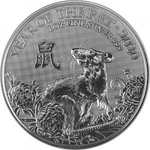 Lunar UK Ratte 1oz Silber - 2020