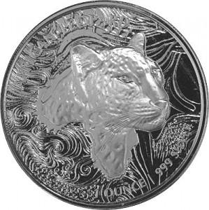 Afrika Ghana Leopard 1oz Silber - 2019