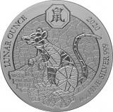 Ruanda Lunar Ratte 1oz Silber - 2020