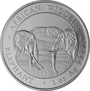 Somalia Elefant 1 oz Silber - 2020