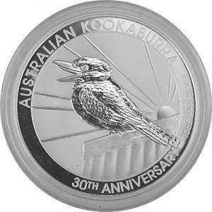 Kookaburra 10oz Silber - 2020