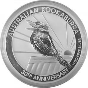 Kookaburra 1kg Silber - 2020